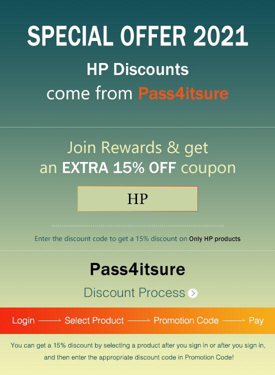 Pass4itsure HP dumps discount code 2021